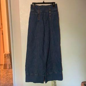 Anthropologie Pilcro sailor wide-leg pants